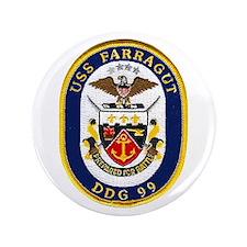 """USS Farragut DDG 99 3.5"""" Button"""