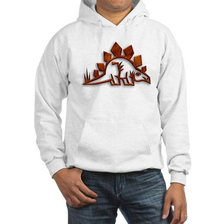 Stegosaurus Dinosaur Art 1 Hooded Sweatshirt