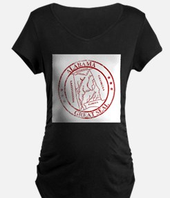 Alabama State Seal Stamp Maternity T-Shirt