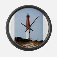 Old Barney Lighthouse Large Wall Clock