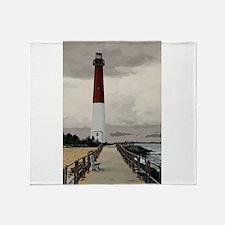 Barnegat Light Lighthouse NJ Throw Blanket
