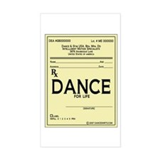 Prescription Dance Antique Rectangle Decal