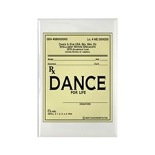 Prescription Dance Antique Rectangle Magnet (10 pa