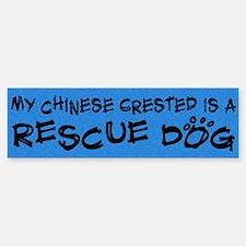 Rescue Dog Chinese Crested Bumper Bumper Bumper Sticker