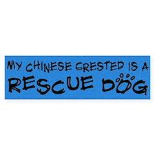 Rescue Dog Chinese Crested Bumper Bumper Sticker