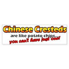 Potato Chips Chinese Crested Bumper Bumper Sticker