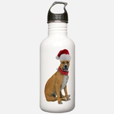 Staffie Christmas Water Bottle