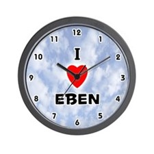I Love Eben (Black) Valentine Wall Clock