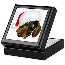 Santa Dachshund Keepsake Box