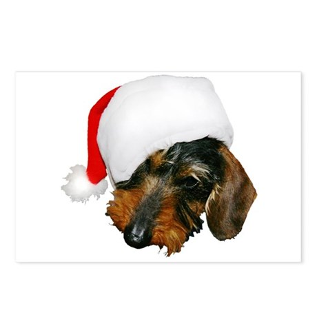 Santa Dachshund Postcards (Package of 8)
