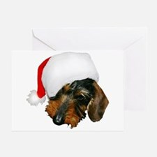 Santa Dachshund Greeting Card