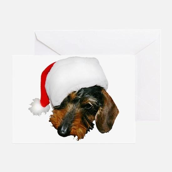 Santa Dachshund Greeting Card