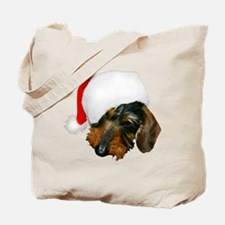 Santa Dachshund Tote Bag