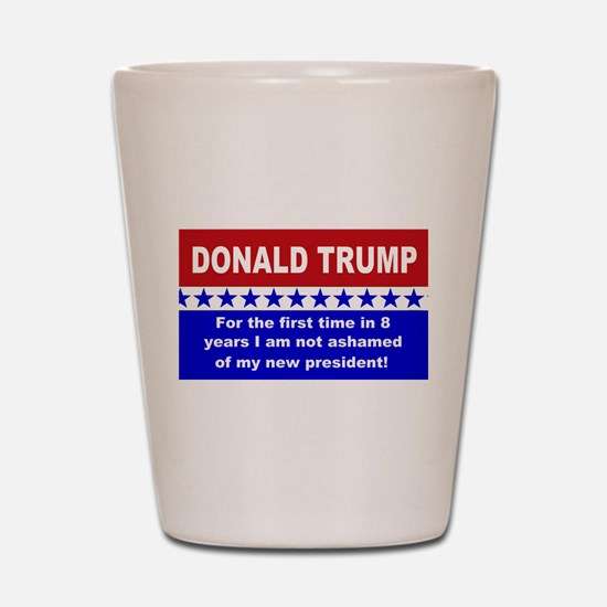 Donald Trump first time Shot Glass