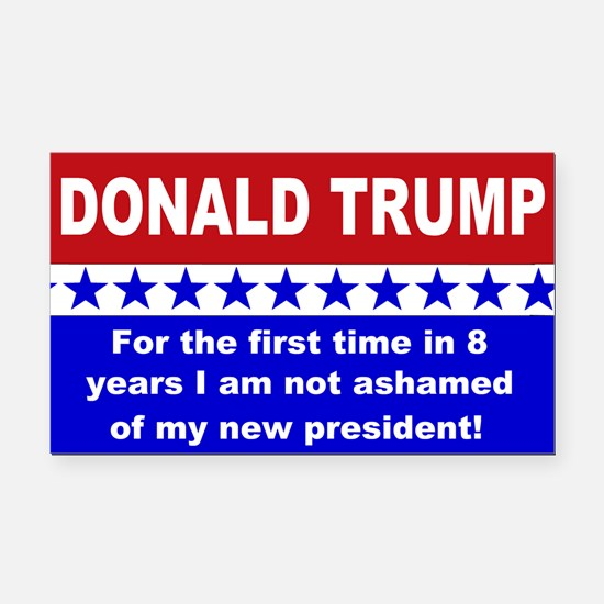 Donald Trump first time Rectangle Car Magnet