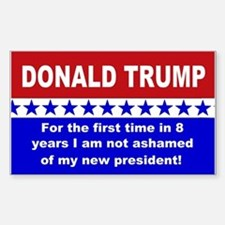 Donald Trump first time Sticker (Rectangle)