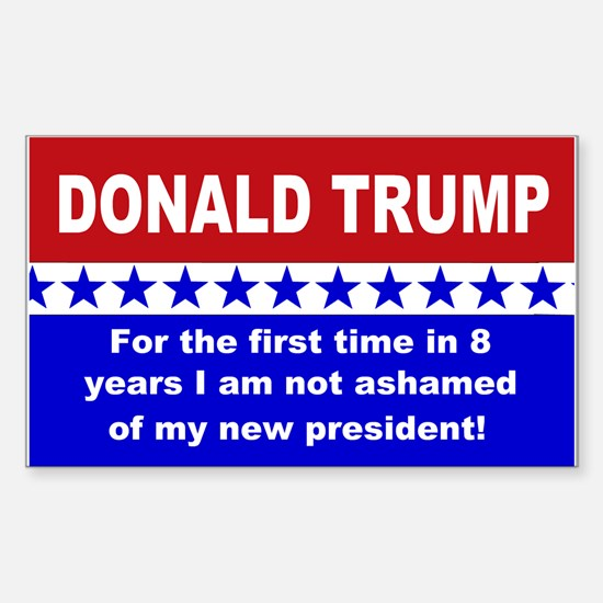 Donald Trump first time Sticker (Rectangle)