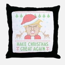 Trump Make Christmas Great Again Throw Pillow