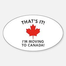 Move To Canada Sticker (Oval)