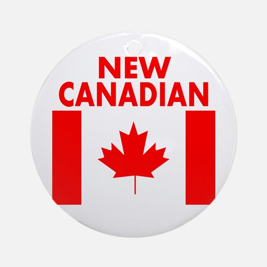 New Canadian Round Ornament