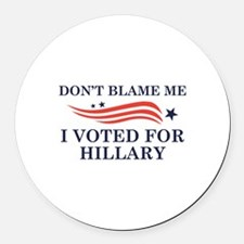I Voted For Hillary Round Car Magnet