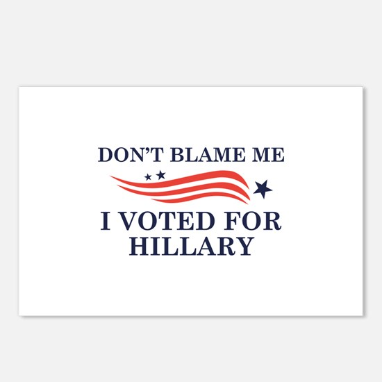 I Voted For Hillary Postcards (Package of 8)