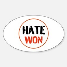 Hate won Decal