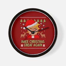 Trump Make Christmas Great Again Wall Clock