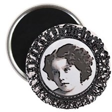 victoriana-curly hair girl Magnet