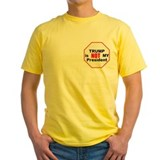 Trump 2cnot my president Mens Yellow T-shirts