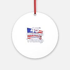 Trump 45 Round Ornament