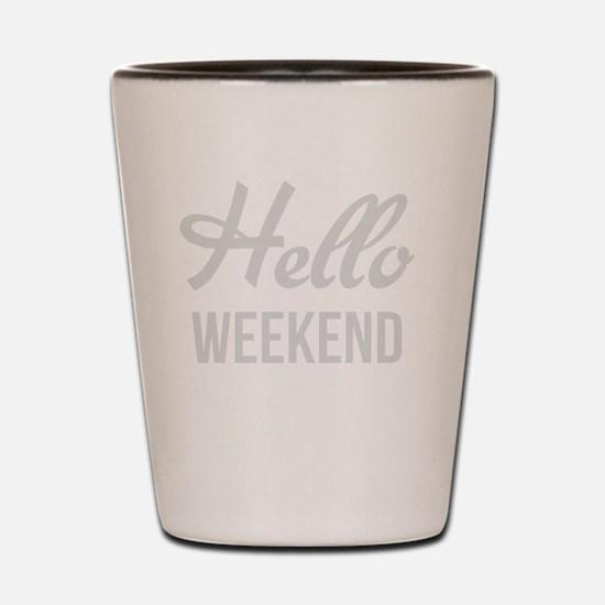 Funny Hello Shot Glass
