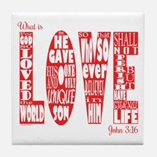What Is Love Tile Coaster