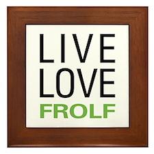 Live Love Frolf Framed Tile