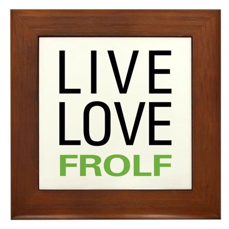Live Love Frolf Framed Tile