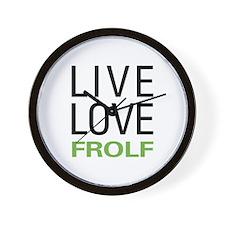 Live Love Frolf Wall Clock