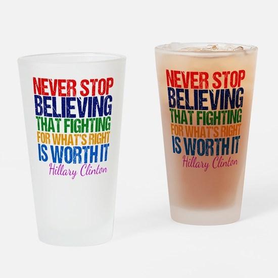 Hillary Motivational Fight Drinking Glass
