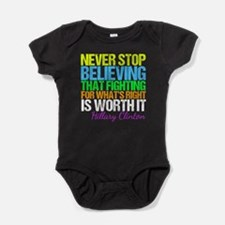 Hillary Motivational Fight Baby Bodysuit
