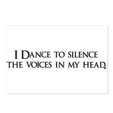 I Dance to silence the voices Postcards (Package o