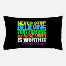 Hillary Motivational Fight Pillow Case