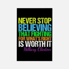 Hillary Motivational Fight Rectangle Magnet