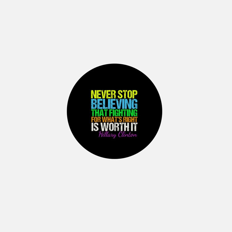 Hillary Motivational Fight Mini Button