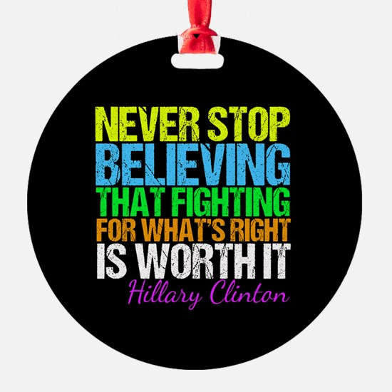 Hillary Motivational Fight Ornament