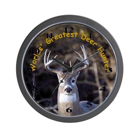 Deer Hunter Wall Clock