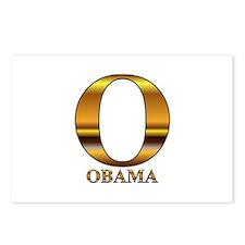 Gold O for Barack Obama Postcards (Package of 8)