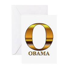 Gold O for Barack Obama Greeting Card