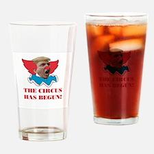 Trump Circus Drinking Glass