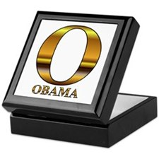 Gold O for Barack Obama Keepsake Box