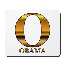 Gold O for Barack Obama Mousepad