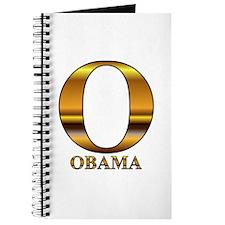 Gold O for Barack Obama Journal